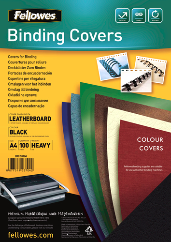 Fellowes Delta A4 Paper Black 100pc(s) binding cover