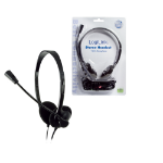 LogiLink Stereo Headset Earphones with Microphone Black