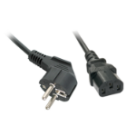 Lindy 30335 power cable Black 2 m CEE7/7 C13 coupler