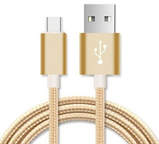 Astrotek 3m Micro USB Data Sync Charger Cable Cord Gold Color for Samsung HTC Motorola Nokia Kndle Android Ph