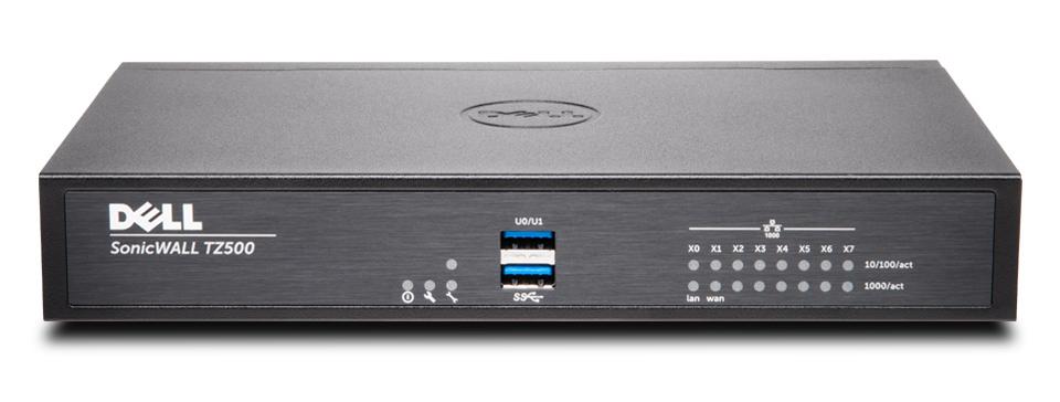SonicWall TZ500 + Advanced Edition (2 Years) cortafuegos (hardware) 1400 Mbit/s Escritorio