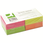 Q-CONNECT Q CONNECT QUICK STICKY NOTE 76X76MM NEON