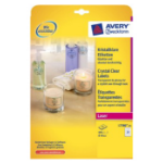 Avery L7780-25 Transparent printer label