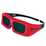 Sharp X102 stereoscopic 3D glasses Red