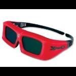 Sharp X102 stereoscopic 3D glasses Red