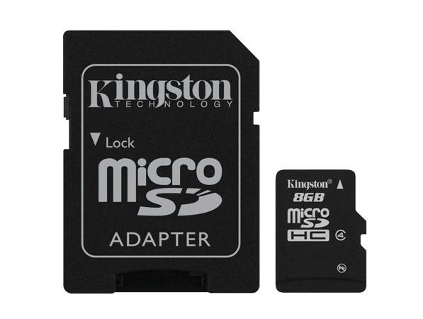 Kingston Technology SDC4/8GB flashgeheugen MicroSD Flash
