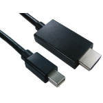 Cables Direct Mini DP/HDMI 2m 2m Mini DisplayPort HDMI Black HDMINIDP-HDMI-2M