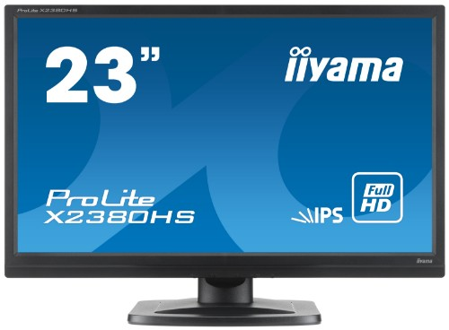 "iiyama ProLite X2380HS 23"" Full HD LED Matt Flat Black computer monitor"