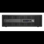 HP EliteDesk 800 G2 6th gen Intel® Core™ i5 i5-6500 4 GB DDR4-SDRAM 500 GB HDD SFF Black PC Windows 7 Professional