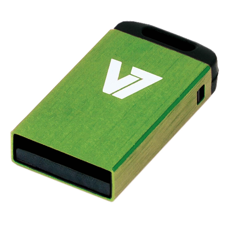 V7 Nano USB 2.0 Flash Drive 32GB Green USB flash drive