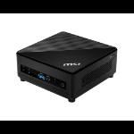 MSI Cubi 5 10M-032EU Intel® Core™ i7 de 10ma Generación i7-10510U 8 GB DDR4-SDRAM 256 GB SSD mini PC Negro Windows 10 Pro