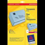 Avery L7567-25 printer label Transparent