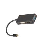 Siig LB-CD0014-S1 cable interface/gender adapter Mini DisplayPort HDMI, DVI, VGA Black