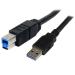 StarTech.com Cable USB 3.0 SuperSpeed Negro de 3 metros - A Macho a B Macho