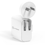 ALOGIC 2 Port USB-C & USB-A Wall Charger 30W with Power Delivery - WHITE
