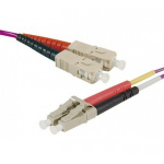 Hypertec 393174-HY fibre optic cable 0.5 m LSZH OM4 SC LC Pink