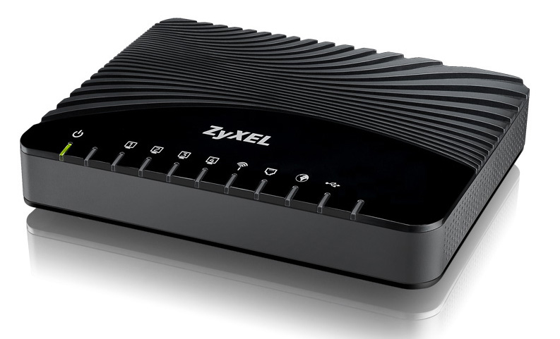 ZyXEL VMG1312-B10A Single-band (2.4 GHz) Fast Ethernet Black wireless router