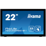 "iiyama ProLite T2235MSC touch screen monitor 54.6 cm (21.5"") 1920 x 1080 pixels Black Multi-touch Tabletop"
