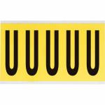 Brady 3460-U self-adhesive label Rectangle Removable Black, Yellow 5 pc(s)