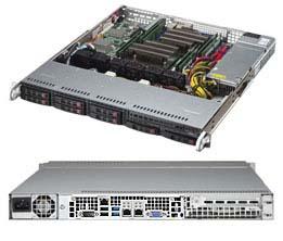 Supermicro CSE-113MFAC2-605CB computer case Rack Black 600 W