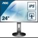 """AOC Pro-line I2490PXQU/BT pantalla para PC 60,5 cm (23.8"""") 1920 x 1080 Pixeles Full HD LED Plana Gris"""