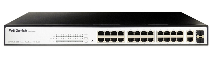 Digitus DN-95313-1 network switch Managed Fast Ethernet (10/100) Power over Ethernet (PoE) Black, White