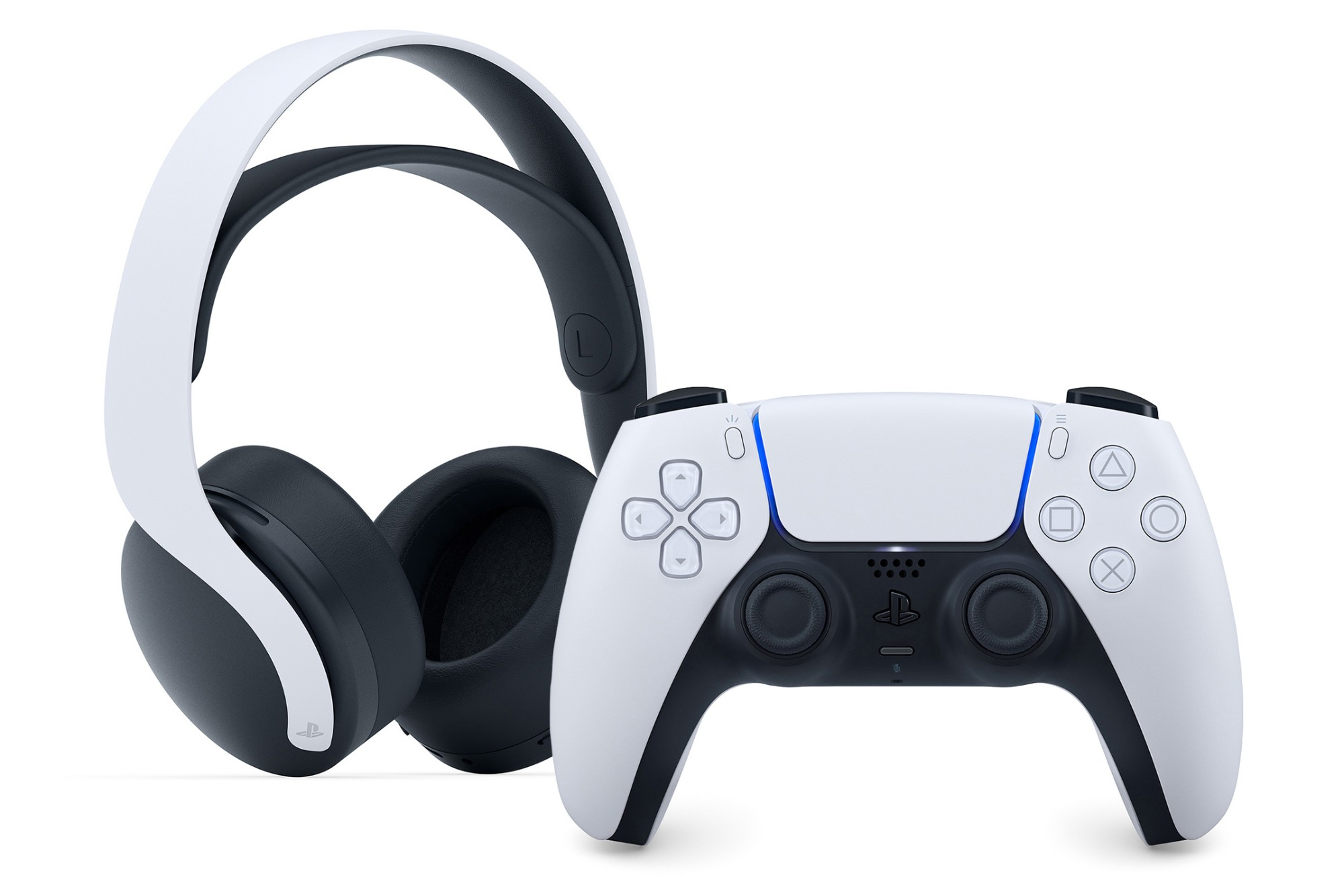 Sony PlayStation 5 Pulse 3D Wireless Headset & White DualSense Controller Bundle