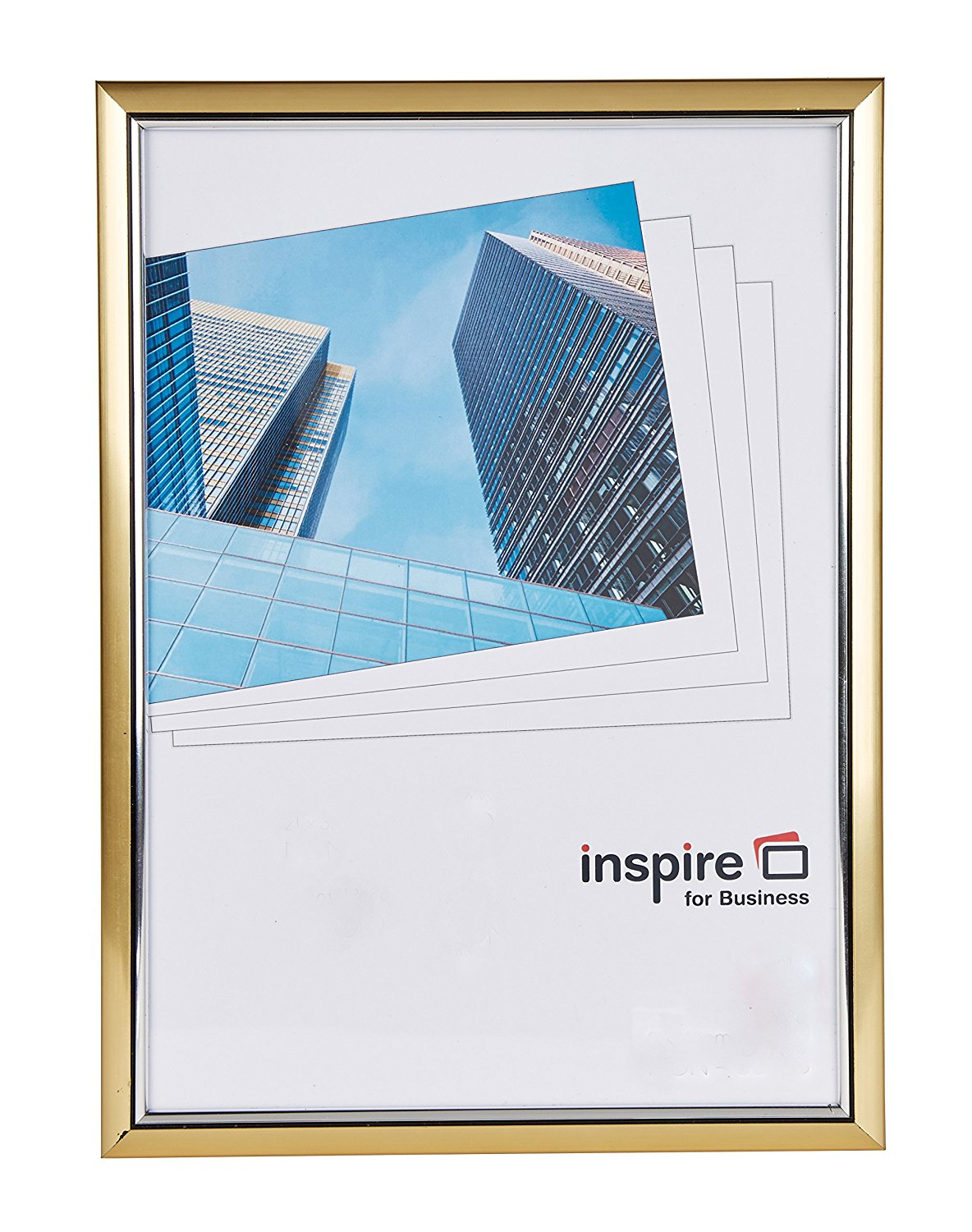 Photo Album Inspire For Business Certificate A4 Back Loader Gold Frame