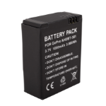 Urban Factory Battery Li-Ion Replacement 1050mAh for GoPro Hero3 and 3+ cameras