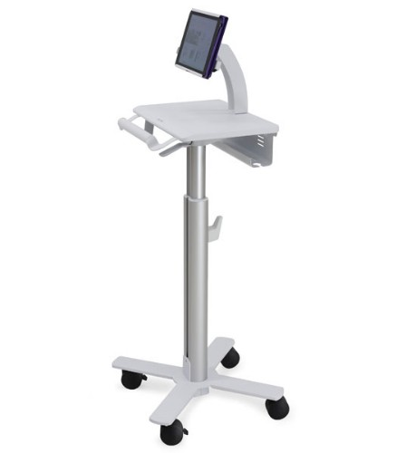 Ergotron StyleView Tablet Cart, SV10 Aluminium, White Multimedia cart