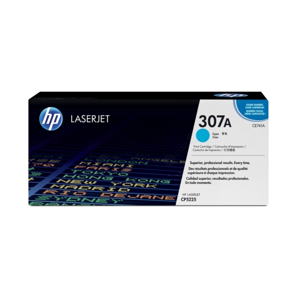 HP CE741A (307A) Toner cyan, 7.3K pages