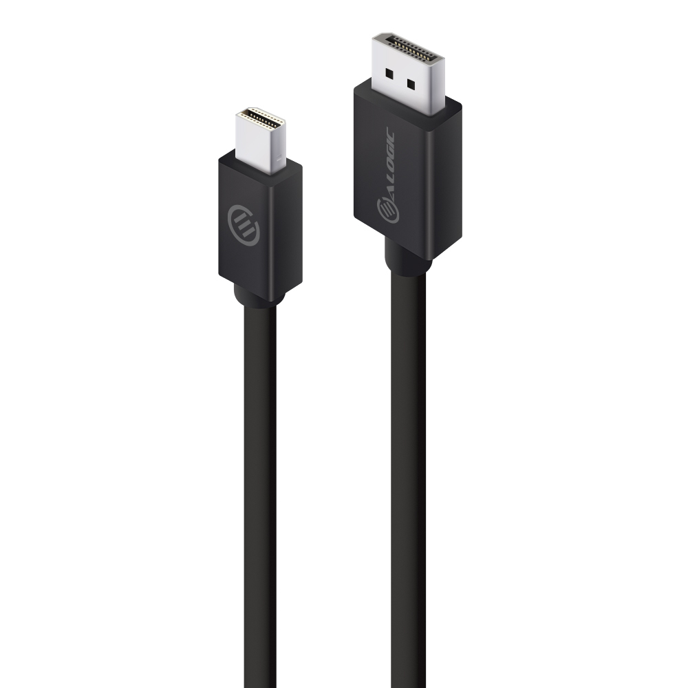 ALOGIC 2m Mini DisplayPort to DisplayPort Cable Ver 1.2 - Male to Male - ELEMENTS Series