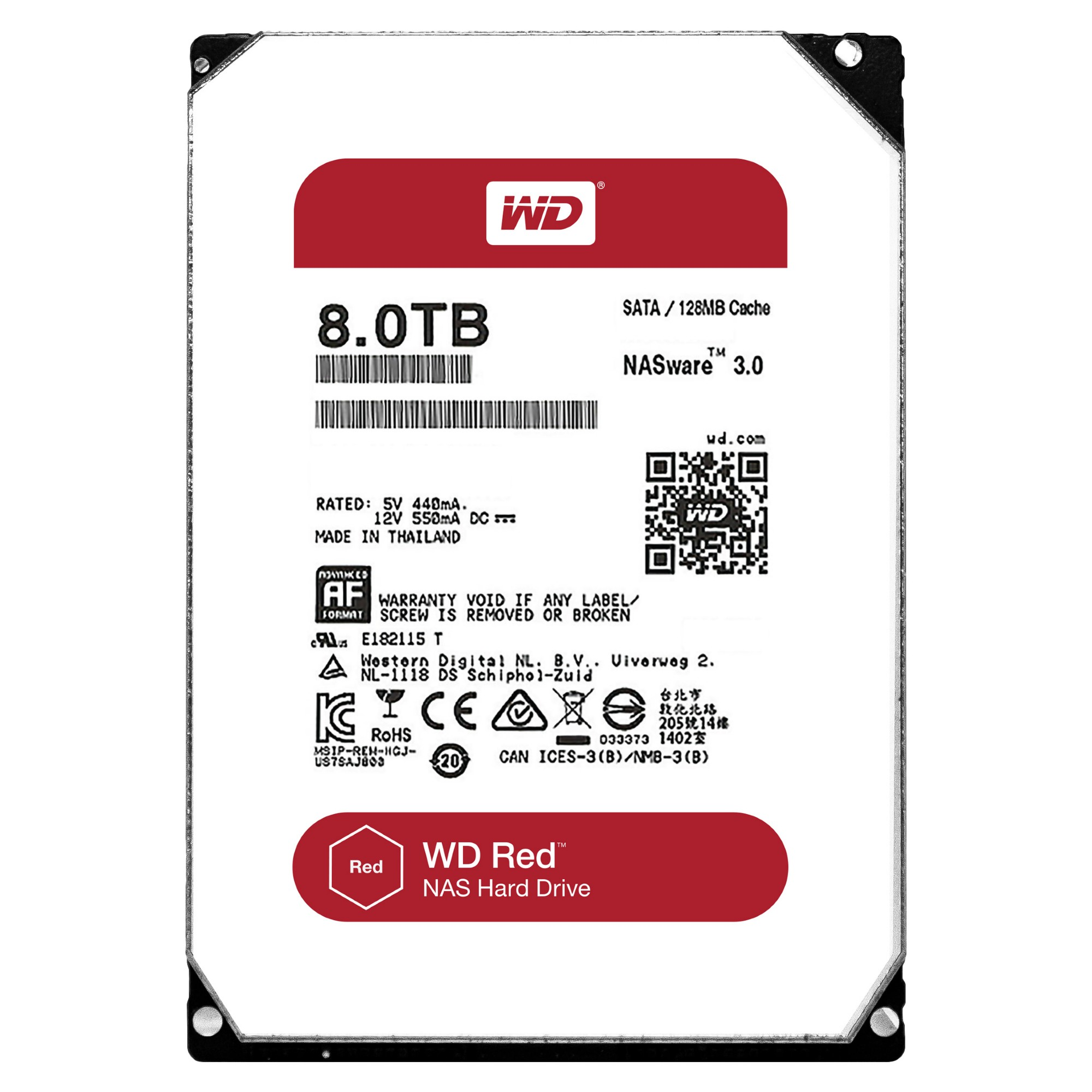 Western Digital Red 8000GB Serial ATA III internal hard drive