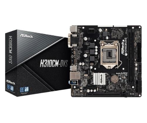 Asrock H310CM-DVS motherboard LGA 1151 (Socket H4) Micro ATX Intel® H310