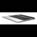 HP 850487-041 mobile device keyboard QWERTZ German Black,Silver