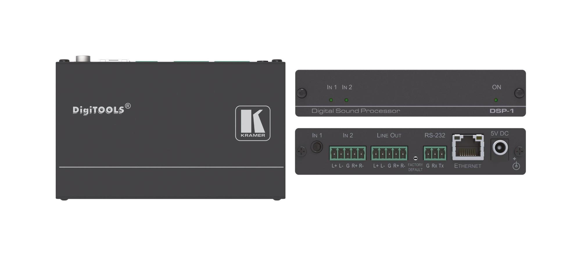 Kramer Electronics DSP-1 3channels Black audio mixer