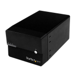 "StarTech.com USB 3.0/eSATA Dual 3.5"" SATA III Hard Drive External RAID Enclosure w/ UASP and Fan – Black"