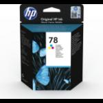 HP 78 Origineel Cyaan, Magenta, Geel 1 stuk(s) Normaal rendement