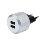 JustMobile AluPlug Indoor Silver mobile device charger
