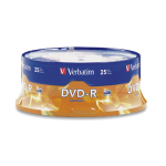 Verbatim DVD-R 4.7GB 16X Branded 25pk Spindle 25 pc(s)