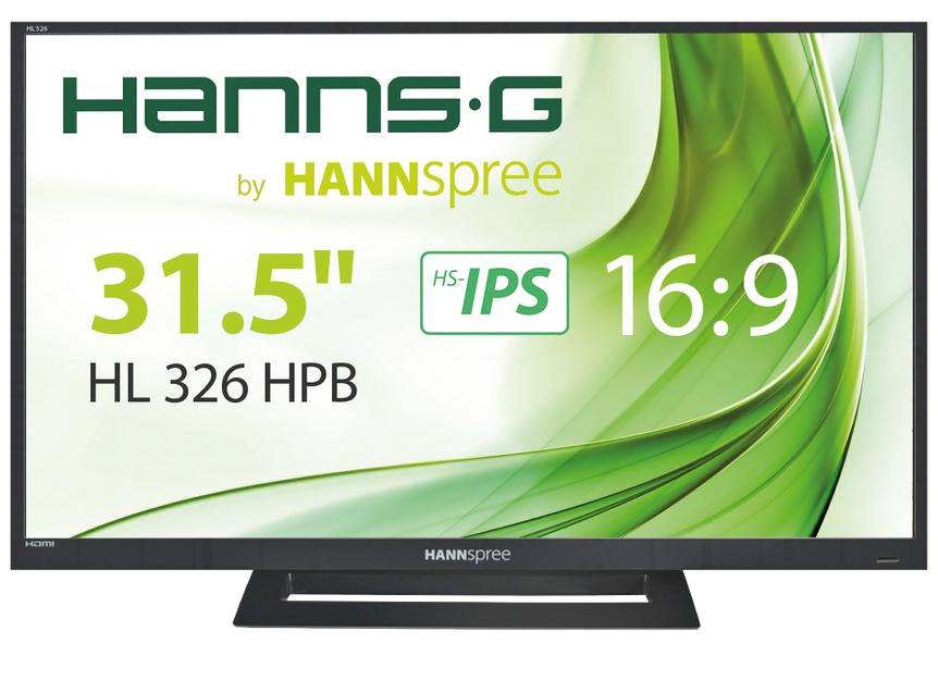 "Hannspree Hanns.G HL 326 HPB 32"" Full HD LCD Black computer monitor"
