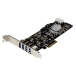 StarTech.com 4 Port PCI Express (PCIe) SuperSpeed USB 3.0 Card Adapter w/ 2 Dedicated 5Gbps Channels - UASP - SATA / LP4 Power