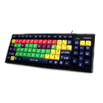 Accuratus KYB-MON2MIX-LCUH keyboard USB QWERTY English Multicolor