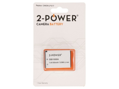 2-Power Digital Camera Battery 7.4V 950mAh