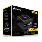 Corsair 750W CX 80+ Bronze 120mm FAN Black ATX PSU 5 Years Warranty 2017 Version