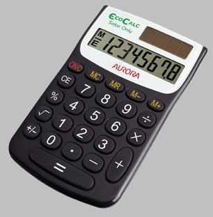 Aurora EC101 calculator Pocket Basic Black