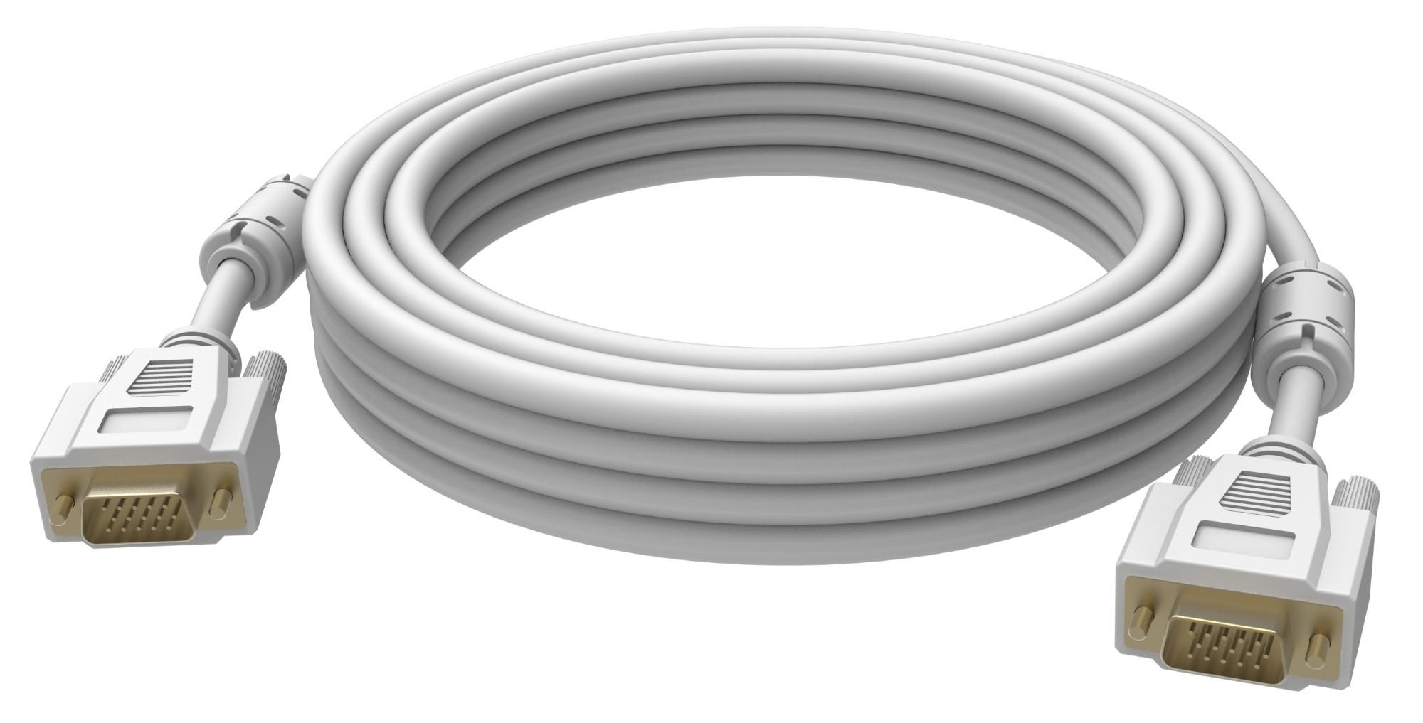 Vision 2x VGA 15-pin D-Sub, 20m cable VGA VGA (D-Sub) Blanco