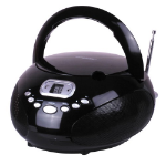LASER CD BOOMBOX WITH AM/FM Radio BLACK