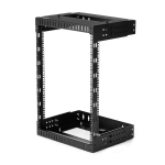 "StarTech.com 15U 19"" Wall Mount Network Rack - Adjustable Depth 12-20"" 2 Post Open Frame Server Room Rack for AV/Data/ IT Communication/Computer Equipment/Switch w/Cage Nuts & Screws"