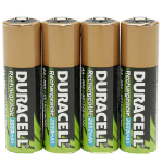 Duracell StayCharged AAA 4 Pack Nickel-Metal Hydride (NiMH) 800mAh 1.2V rechargeable battery